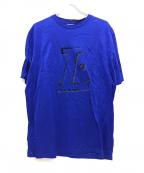 LANVIN(ランバン)の古着「フロッキープリントT」|ブルー