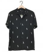 ALL SAINTS(オールセインツ)の古着「アロハシャツ」|ブラック