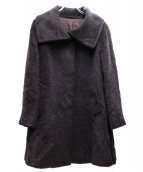 MAX MARA STUDIO(マックスマーラ ストゥディオ)の古着「アルパカウールブレンドスタンドカラーコート」|ネイビー