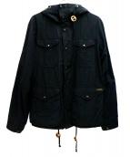 POLO RALPH LAUREN(ポロラルフローレン)の古着「オイルドマウンテンパーカー」 ブラック