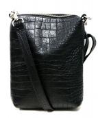 KAIKO(カイコ)の古着「型押しショルダーバッグ」|ブラック