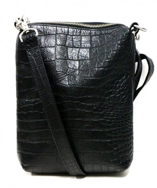 KAIKO(カイコ)KAIKO (カイコ) 型押しショルダーバッグ ブラック サイズ:-の古着・服飾アイテム