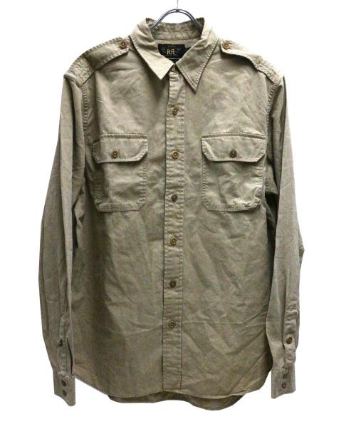 RRL(ダブルアールエル)RRL (ダブルアールエル) ピケウエスタンシャツ ベージュ サイズ:Lの古着・服飾アイテム