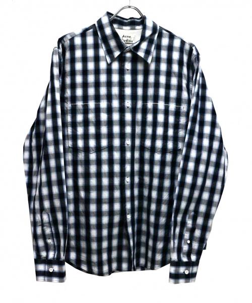 ACNE STUDIOS(アクネステュディオズ)ACNE STUDIOS (アクネステュディオズ) チェックシャツ ブルー サイズ:52の古着・服飾アイテム