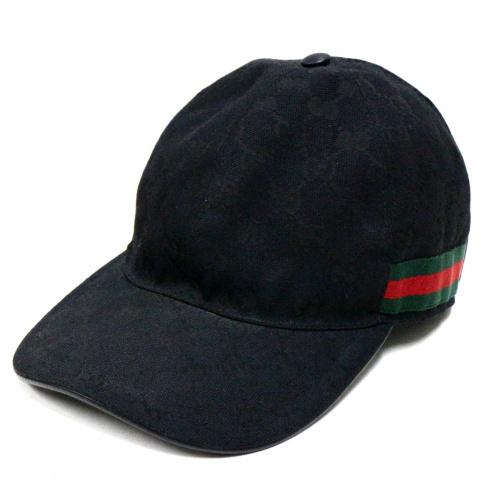 GUCCI(グッチ)GUCCI (グッチ) GGキャップ ブラック サイズ:Mの古着・服飾アイテム