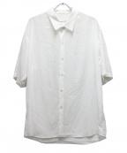 LAD MUSICIAN(ラッドミュージシャン)の古着「ショートスリーブビッグシャツ」 ホワイト