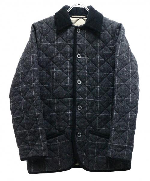 Traditional Weatherwear(トラディショナルウェザーウェア)Traditional Weatherwear (トラディショナルウェザーウェア) ウールキルティングコート グレー サイズ:36の古着・服飾アイテム