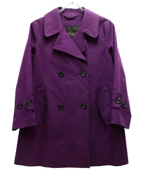 LOUIS VUITTON(ルイヴィトン)LOUIS VUITTON (ルイヴィトン) ゴム引きトレンチコート パープル サイズ:40の古着・服飾アイテム
