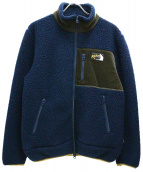 ROKX(ロックス)の古着「ボアフリースジャケット」|ネイビー