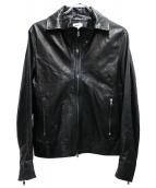 EMMETI(エンメティ)の古着「ラムレザージャケット」|ブラック
