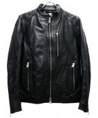 JACKROSE(ジャックローズ)の古着「シープシングルライダースジャケット」|ブラック