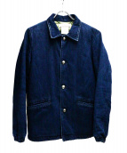 REMI RELIEF(レミレリーフ)の古着「キルティングライナーデニムジャケット」|インディゴ