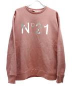 N°21(ヌメロ ヴェントゥーノ)の古着「ロゴプリントスウェット」|ピンク