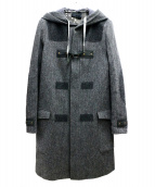DIESEL BLACK GOLD(ディーゼルブラックゴールド)の古着「フーデッドコート」|グレー