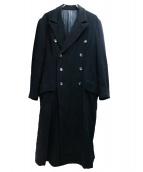 Ys(ワイズ)の古着「オールドロングウールコート」|ブラック