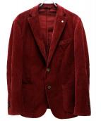 L.B.M.1911(エルビーエム1911)の古着「コーデュロイ2Bジャケット」 レッド