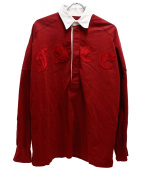 FACETASM(ファセッタズム)の古着「フェイスラグビーシャツ」|レッド