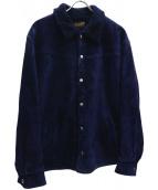 TENDERLOIN(テンダーロイン)の古着「サドルスウェードジャケット」|ネイビー