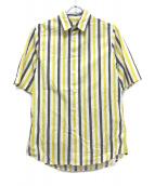 MARNI(マルニ)の古着「ストライプシャツ」|イエロー×グレー