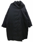mizuiro-ind(ミズイロインド)の古着「ショールカラーダウンコート」|ブラック