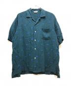 WELLDER(ウェルダー)の古着「ショートスリーブオープンカラーシャツ」 グリーン