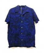 KAZUYUKI KUMAGAI ATTACHMENT(カズユキクマガイアタッチメント)の古着「オープンカラーシャツ」|ブルー