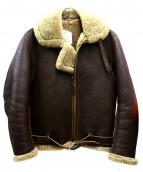 Aero LEATHER(エアロレザー)の古着「シープスキンフライングジャケット」|ブラウン