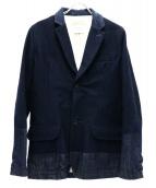 REMI RELIEF(レミレリーフ)の古着「デニム切替テーラードジャケット」|インディゴ