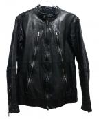 AMERICAN RAG CIE(アメリカンラグシー)の古着「ラムレザ-ライダースジャケット」|ブラック