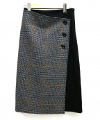 EPOCA THE SHOP(エポカ ザ ショップ)の古着「切替スカート」 ブラック×グレー