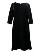 CELFORD(セルフォード)の古着「レース切替ブラウスワンピース」|ブラック