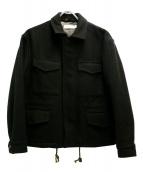 HEAD PORTER PLUS(ヘッドポータープラス)の古着「メルトンショートジャケット」|ブラウン