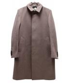 DOLCE & GABBANA(ドルチェアンドガッバーナ)の古着「ステンカラーウールコート」|ピンク