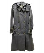BURBERRY LONDON ENGLAND(バーバリーロンドン)の古着「トロピカルギャバジントレンチコート」 グレー