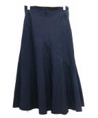 COMME des GARCONS(コムデギャルソン)の古着「オールドステッチカットオフスカート」|ネイビー