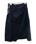 JUNYA WATANABE CDG(ジュンヤワタナベコムデギャルソン)の古着「ラップデザインスカート」|ネイビー