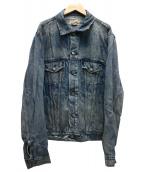 POLO RALPH LAUREN(ポロラルフローレン)の古着「ユーズド加工デニムジャケット」|インディゴ