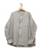 ゴーシュ(ゴーシュ)の古着「ノーカラーシャツジャケット」|グレー