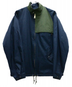 kolor/BEACON(カラービーコン)の古着「バックコーティングコットンウェザースウィングトップ」 ネイビー