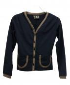FENDI jeans(フェンディージーンズ)の古着「ペカンVネックカーディガン」|ブラック