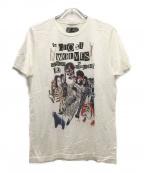 Thee Hysteric XXX(ジィーヒステリックトリプルエックス)の古着「ザゴーストウルヴス/ABGB Tシャツ」 ホワイト