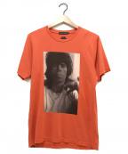 Thee Hysteric XXX(ジィーヒステリックトリプルエックス)の古着「ザローリングストーンズ1968PT Tシャツ」 オレンジ