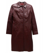 Christian Dior(クリスチャンディオール)の古着「オールドレザーコート」 レッド