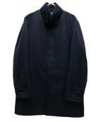 PRADA(プラダ)の古着「ライナー付ステンカラーコート」|ネイビー