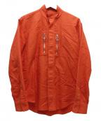JOHN LAWRENCE SULLIVAN()の古着「ジップポケットシャツ」 オレンジ