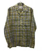 Hysteric Glamour(ヒステリックグラマー)の古着「ダムド刺繍オープンカラーシャツ」|イエロー