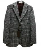 ETONNE(エトネ)の古着「ハンドトゥースチェックジャケット」|ホワイト