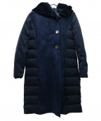 YOSOOU(ヨソオウ)の古着「Fムートンダウンコート」|ネイビー