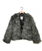 GYDA(ジェイダ)の古着「レイヤードエコファーライダースジャケット」|グレー×ブラック