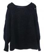styling/ kei shirahata(スタイリング / ケイ シラハタ)の古着「ハンドケーブルプルオーバー」 ブラック